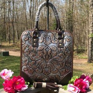 Handbags - Engraved Leather Purse